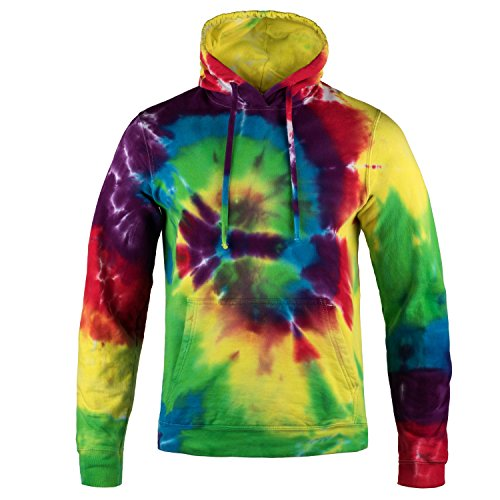 Magic River Tie Dye Hooded Sweatshirt - Black Cyclone - Adult Small Hoody