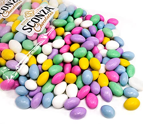 Jordan Almonds Candy Bulk - By Sconza -  5 Pounds  Fresh Italian Confetti Candy For Wedding Favors Or Easter Holiday Treats in Pastel Assorted Color