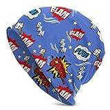 Villanelle Pyjamas Tribute Beanie Knit Hat Cap All Seasons Caps Sombreros Gorra de Calavera Lisa con puños para Unisex