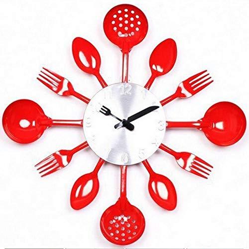 NXSP Digitale wandklok, vork lepel keuken het decor moderne kwarts metalen mute-sale Rushed