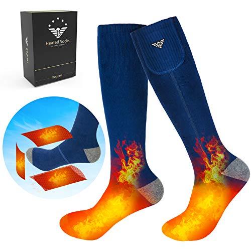 Begleri Heated Socks for Men Women - Electric Socks 7.4V Rechargable for Winter Sport Outdoors