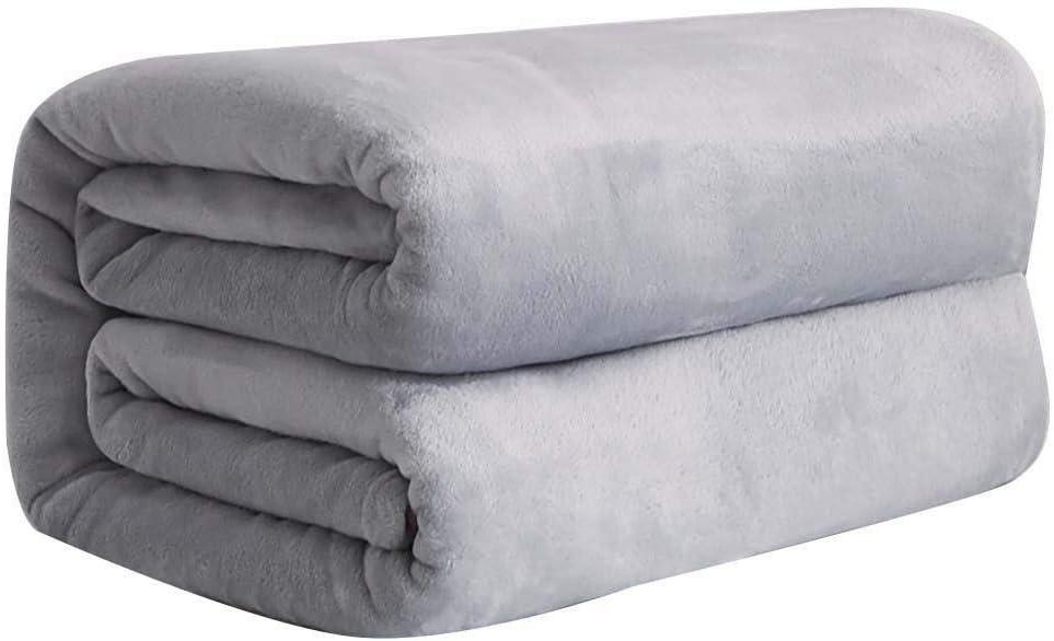 Soft Warm Fleece San Jose Mall New item Blanket Solid Off Color Flannel Bed Car