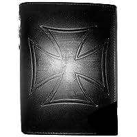 Portefeuille cuir confort Dimensions : 14.5 x 10.5 cm Format Européen Nombreuses poches de rangement Portefeuille en cuir avec chaînette attache ceinture