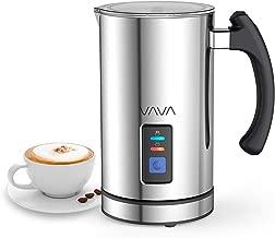 VAVA IT VA-EB008 Montalatte Elettrico Schiumatore Acciaio Inox caffè Latte Caldo Freddo Antiaderente Controllo Temperatura Strix Indicatore Livello,cappuccinatore, Inossidabile, Argento