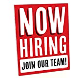 Big Dot of Happiness Now Hiring Sign -...