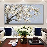 Pintado a mano 3D cuchillo pintura abstracta flor pintura al óleo sobre lienzo arte adorno de pared imágenes para sala de estar decoración del hogar 60x120 CM (sin marco)