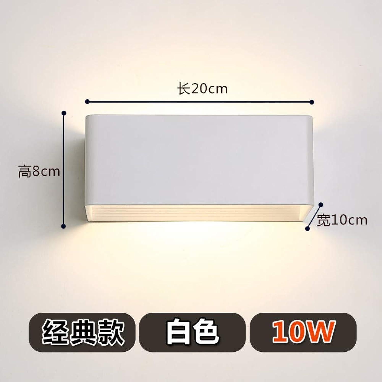 Xinxin24 Wandleuchte Moderne Minimalistische Schlafzimmer Nacht Wohnzimmer Treppe Flur Wandleuchte, Wei 20  8  10 cm, 10 Watt