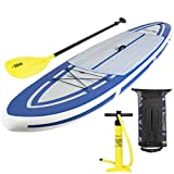 Best Choice Products 10.5ft Inflatable Stand Up Paddle Board Sport Set w/Carrying Case, Fiberglass Paddle, and Pump