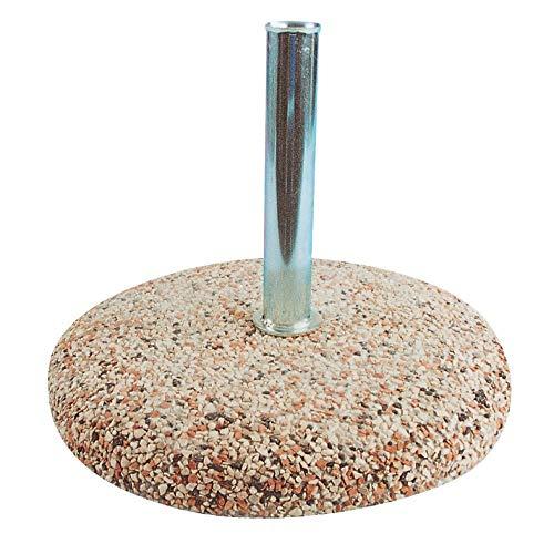 HOMEGARDEN Base per ombrellone in Cemento Foro da 50mm 35kg
