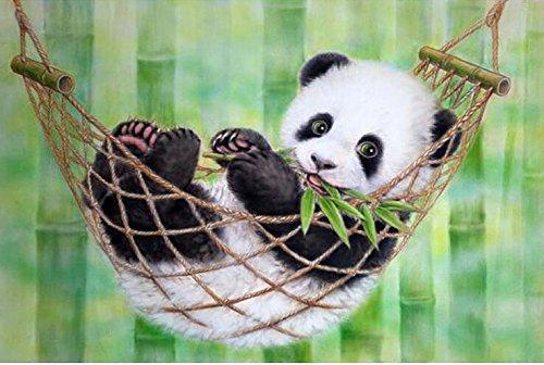 Queenlink complète Collez-le DIY carré Diamant Broderie peintures Strass Croix Panda sur Vocation