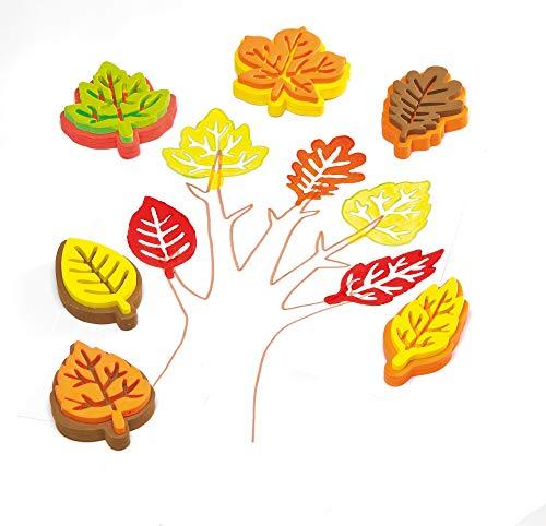 Baker Ross Moosgummi Blätterform Stempel für Kunstprojekte für Kinder zum Dekorieren von Karten, Collagen und Einklebebüchern (10er-Pack)