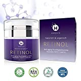 Retinol Feuchtigkeitscreme Creme, Anti-Aging & Anti Falten Creme von HOPEMATE für Gesicht & Augen, für Tag & Nacht, mit 2,5% Retinol + Hyaluronsäure + Vitamin E + Grüner Tee + Jojobaöl,...