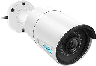 Reolink Cámara de Seguridad PoE 5MP Super HD Soporte Ranura para Tarjeta SD Audio IP66 Impermeable Detección de Movimiento Vigilancia Doméstica Cámara IP RLC-410-5MP