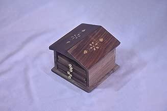 Hut Shape Wooden Coaster, Set of 6 Pieces