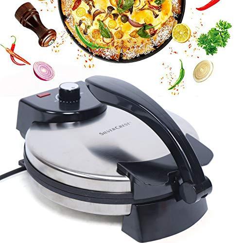 Elektrisch Tortilla-Presse, Fladenbrot Maker, Chapati Maker Doppelseitige Heizung, Pfannkuchen Maker, Einfach zu Bedienen und Reinigen