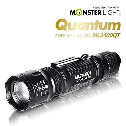 Monster Light 2400 Quantum 1300 Lumen Lampe de poche tactique LED – Anodisation dure réelle, 5 modes, mise au point adustable, résistant à l'eau pour camping/randonnée/urgence/chasse/randonnée/randonnée/randonnée/randonnée/randonnée/randonnée/randonnée/randonnée/randonnée/randonnée/randonnée/randonnée/randonnée/randonnée/randonnée/randonnée/