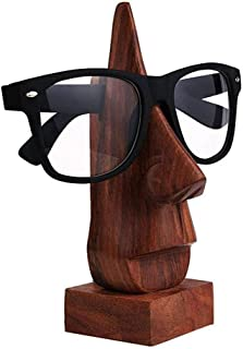 Big Christmas Gift Handmade Wooden Spec Holder, Desktop Eyeglass Holder Stand, Nose-Shaped Eyeglass Spectacle Holder for Home & Office Decor 6 Inch