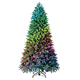 Evergreen Classics 7.5 ft Twinkly Pre-Lit Aspen Pine Quick Set Artificial Christmas Tree, App-Controlled Multicolor RGB Lights
