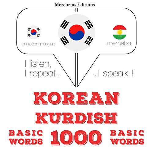 Korean – Kurdish. 1000 basic words cover art