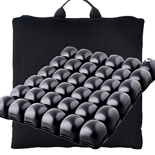 WANGXNCase Aufblasbares Anti-Dekubitus-Kissen Für Auto, Rollstuhl, Orthopädische Sitzkissen,Computer Und Schreibtischstuhl, Aufblasbares Steißbeinpolster, Schmerzlinderung Im Unteren Rückenbereich