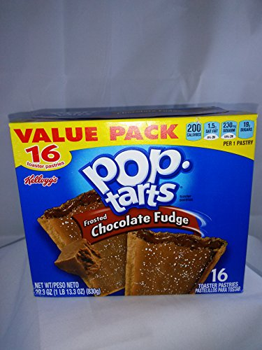 Pop Tarts Frosted Chocolate Fudge Value Pack 16 Pastries,29.3 Oz