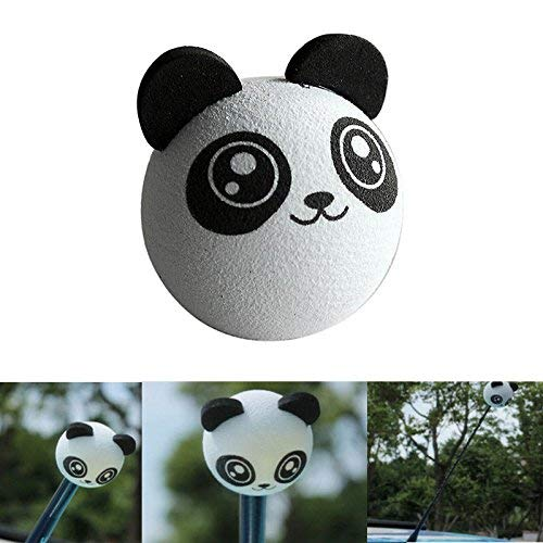 YesDone Auto Antenne Toppers Mooie Smiley Honing Bumblebee Luchtbol Antenne Topper Aziatische Kungfu Shop 4.5cm Panda