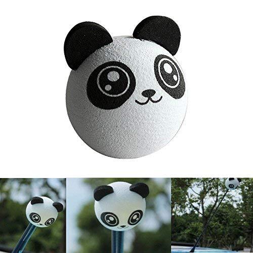ARMAC Panda Car Antenna Topper,Cartoon Aerial Topper EVA Antenna Ball for...
