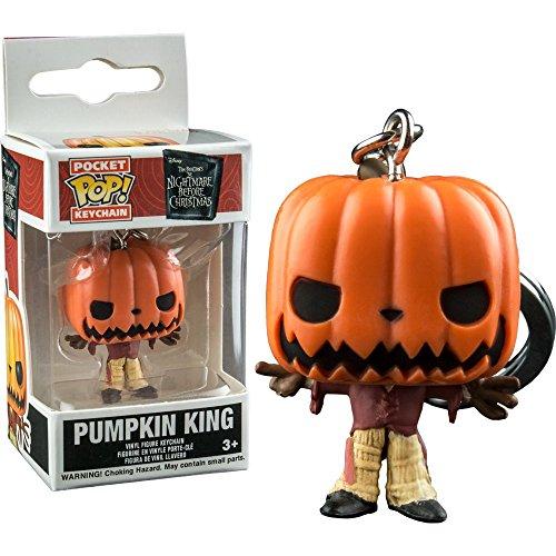 Pocket POP! Keychain: Disney: Calabaza antes de Navidad: Pumpkin King Exclusivo