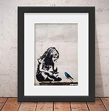 Quadro Decorativo Banksy Street & Vidro & Paspatur 46x56cm Qt41