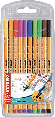 Fineliner - STABILO point 88 - Astuccio da 10 - Colori assortiti