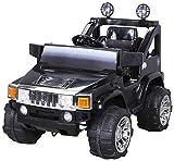 Actionbikes Electro Coche niños Hummer Jeep A30 con 2 x 35 Vatios Motor Electro Coche niños Vehiculo Infantil en Muchos Colores - Negro, **Kinder**