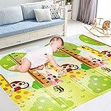 Homcomodar Alfombra de Juego para Bebés Plegable para Ambos Lados Portátil Impermeable Tapete de Juego Burbuja Antideslizante La Alfombra Uso para Sala de Juegos, bebés, niños pequeños