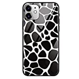 ZhuoFan Funda para iPhone 12 Mini -5.4'' Case,9H Vidrio Carcasa de telefono Gato de mármol Resistente a los arañazos y Golpes Cover Fundas Vidrio Templado Cubierta para iPhone12mini, Pareja de Vacas