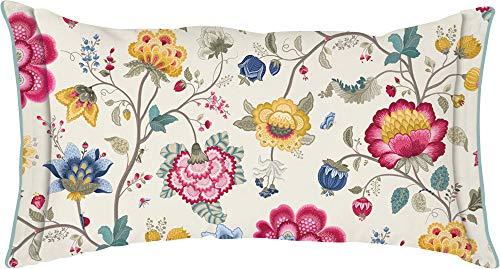 PiP Studio Perkal Bettwäsche Floral Fantasy ecru Kissen gefüllt einzeln 45x45 cm