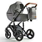 Krausman Kinderwagen 3 in 1 Nexxo Gray Kombikinderwagen Babyschale Babywanne