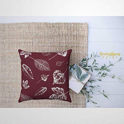 EricauBird Funda de almohada de otoño y granate de color burdeos, almohada decorativa, moderna funda de cojín para el día de San Patricio, dormitorio interior, sofá, sala de estar, coche.