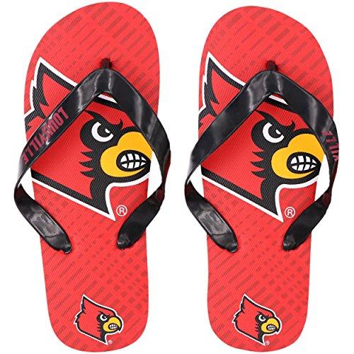 fokustheorie Louisville Cardinals: doppelt Logo Flip Flop, Unisex, FFNCDLG816LOS, Louisville Cardinals, Large
