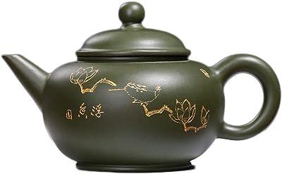 Xiang Ye 宜興急須鉱石レベルグリーンクレイポット大きな鍋製品 (Color : Green)