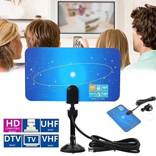 casefo Ryou TV Antenna Interna 25 Miles Digital HDTV Antena Amplificador de señal ampliado Habitaciones Antena Televisor Amplificador Singal Booster para HDTV DTV VHF UHF Antennas – 3.2 ft Coax Cable: Amazon.es: Electrónica