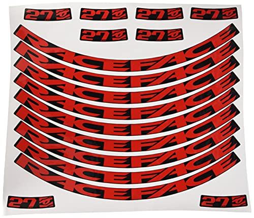 Ecoshirt 61-SGQL-J8P5 Pegatinas Stickers Llanta Rim Raceface 26' 27,5' Am54 Bike MTB Downhill, Rojo 27.5'
