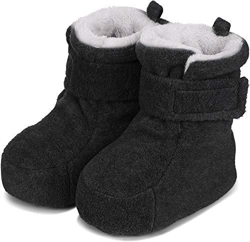 Sterntaler Jungen Baby Schuhe mit Schnurzug, Farbe: Anthrazit melange, Größe: 15/16, Alter: 4-6 Monate, Artikel-Nr.: 5101620