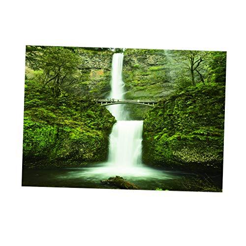 Fenteer PVC Posters Fond Autocollant pour Aquarium Photo Mur 3D HD Facile à Installer - XXL