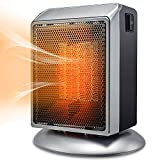 Space Heater, Bermunavy Indoor Personal Heater, Portable Electric Ceramic Heater with Over Heat