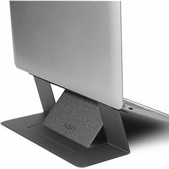 【正規代理店】MOFT ノートパソコン スタンド PCスタンド テレワーク 折りたたみ 超軽量 超極薄 Macbook Pro/Air/タブレット/その他ノートPC 15.6インチまで対応(スペースグレイ)