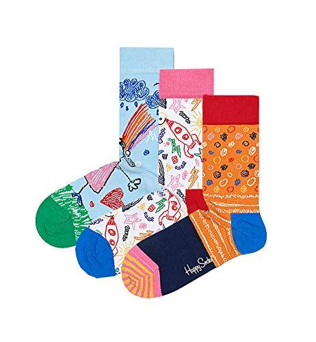 Happy Socks Women's I Love You Mom Mother's Day Gift Box Set, Three Pairs of Crew Socks (9-11,...