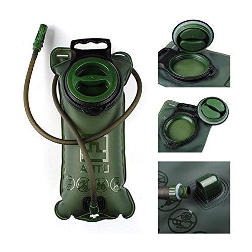 Poche à eau de 2 L - Réservoir d'eau - Portable - Pliable - Pour sports de plein air, cyclisme, randonnée, escalade, course à pied.