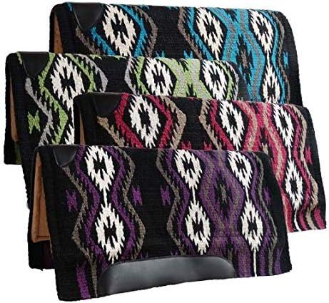 TACK! SHOWMAN 31 x 32  Wool Top Memory Felt Bottom Saddle Pad W// Leather Trim