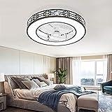 Bxiaoyan Lámpara De Techo con Luz De Ventilador Chino Dormitorio Sala De Estar Minimalista Moderna Comedor Hogar Luz De Ventilador Led Invisible (Size : D46cm)