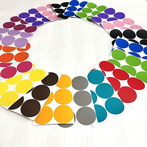 RUYU 90 PCS mezcló 15 Colores del Arco Iris Lunares de Etiquetas de la Pared Etiqueta de Estar de decoración de Interior (Color : Multi, Size : 25mm)