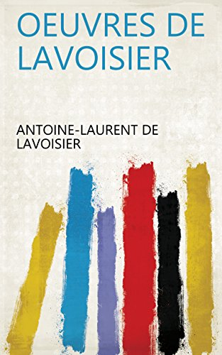 Oeuvres de Lavoisier (French Edition)